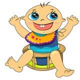 Cartoon baby boy icon.breeding time illustration Stock Photography