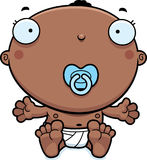 Cartoon Baby Boy Pacifier Stock Images