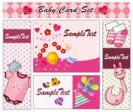 Cartoon baby card. Drawing Stock Photo