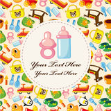 Cartoon baby card Royalty Free Stock Photos