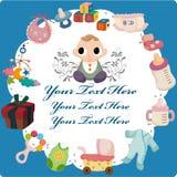 Cartoon baby card Stock Images