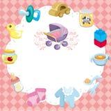 Cartoon baby card Stock Photos