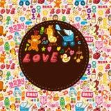 Cartoon baby card Stock Photo