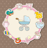 Cartoon baby card Stock Image