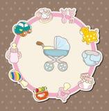 Cartoon baby card Stock Image