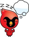 Cartoon Baby Cardinal Dreaming Stock Photos