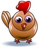 Cartoon baby chicken. Illustrated clip art Stock Photos