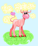 Cartoon baby cow Royalty Free Stock Images