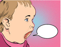 Cartoon Baby crying Stock Image