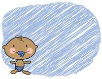 Cartoon baby dark skin boy stock images