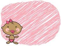 Cartoon baby dark skin girl stock image