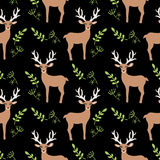 Cartoon Baby  deer animal flat seamless pattern. Cartoon Baby  animal flat seamless pattern Royalty Free Stock Image
