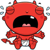 Cartoon Baby Devil Crying Royalty Free Stock Photography
