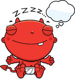 Cartoon Baby Devil Dreaming Stock Image