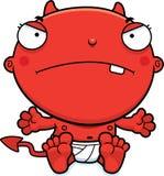 Cartoon Baby Devil Mad Stock Photography