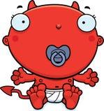 Cartoon Baby Devil Pacifier Royalty Free Stock Photo