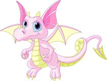 Cartoon baby dragon stock illustration