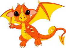 Cartoon baby dragon Royalty Free Stock Image