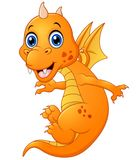 Cartoon baby dragon Stock Images