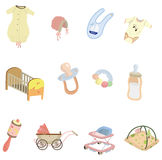 Cartoon baby element icon Royalty Free Stock Photography