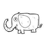 cartoon baby elephant Royalty Free Stock Photography
