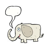 Cartoon baby elephant with speech bubble Royalty Free Stock Images
