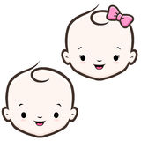 Cartoon Baby Face. Cartoon icon vector baby face for design element Royalty Free Stock Photography
