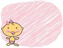 Cartoon baby fair skin girl Royalty Free Stock Photography