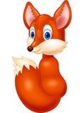 Cartoon baby fox look back Stock Photography