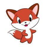 Cartoon Baby Fox. Vector illustration of cute cartoon baby fox for design element. All flat color no gradient, no transparencies, easy editing. EPS 8 Stock Photography