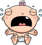 Cartoon Baby Girl Crying Royalty Free Stock Photos