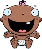 Cartoon Baby Girl Happy Stock Photo