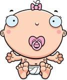 Cartoon Baby Girl Pacifier Stock Photography