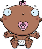 Cartoon Baby Girl Pacifier Royalty Free Stock Images