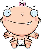 Cartoon Baby Girl Smiling Stock Photo