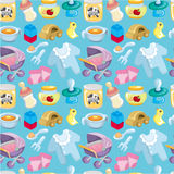 Cartoon baby good seamless pattern. Drawing Stock Image