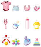 Cartoon baby icon. Vector drawing Royalty Free Stock Photography