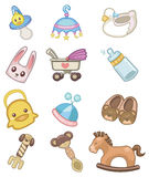 Cartoon baby icon. Vector drawing Royalty Free Stock Photo