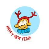 Cartoon baby monkey. Vector baby monkey in cartoon style, symbol of the year Stock Photo