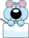 Cartoon Baby Mouse Sign Royalty Free Stock Image