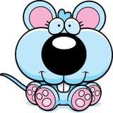 Cartoon Baby Mouse Sitting stock illustration