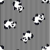 Cartoon Baby  panda animal flat seamless pattern. Cartoon Baby  animal flat seamless pattern Stock Photos