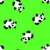 Cartoon Baby  panda animal flat seamless pattern. Cartoon Baby  animal flat seamless pattern Stock Image