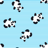 Cartoon Baby  panda animal flat seamless pattern. Cartoon Baby  animal flat seamless pattern Royalty Free Stock Photo