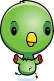 Cartoon Baby Parrot Running Stock Photo