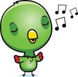 Cartoon Baby Parrot Singing. A cartoon illustration of a baby parrot singing Stock Photos