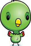 Cartoon Baby Parrot Standing Royalty Free Stock Photos