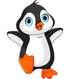 Cartoon baby penguin. Illustration of dancing baby penguin Royalty Free Stock Images