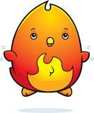 Cartoon Baby Phoenix Fly. A cartoon illustration of a baby phoenix flying Stock Photography