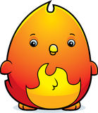 Cartoon Baby Phoenix. A cartoon illustration of a baby phoenix standing Royalty Free Stock Image